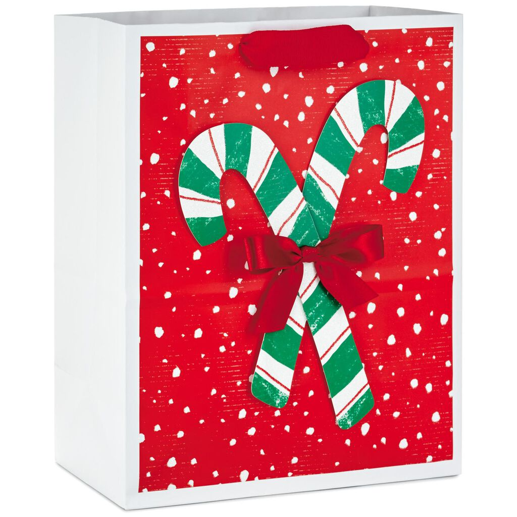 candy canes with bow large christmas gift bag 13 gift bags hallmark