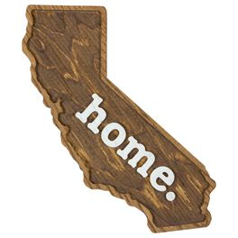 California Wood Wall Plaque, , large