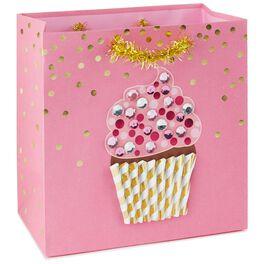 """Fancy Cupcake Medium Square Gift Bag, 7.75"""", , large"""