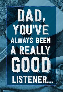 Really Good Listener Musical Father's Day Card,
