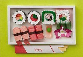 Sushi Bento Box Birthday Card,