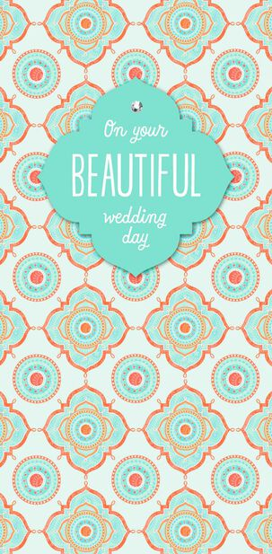On Your Beautiful Day Money Holder Wedding Card