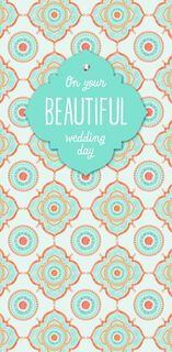 On Your Beautiful Day Money Holder Wedding Card,