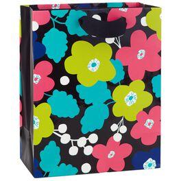 "Bold Flowers Medium Gift Bag, 9.5"", , large"