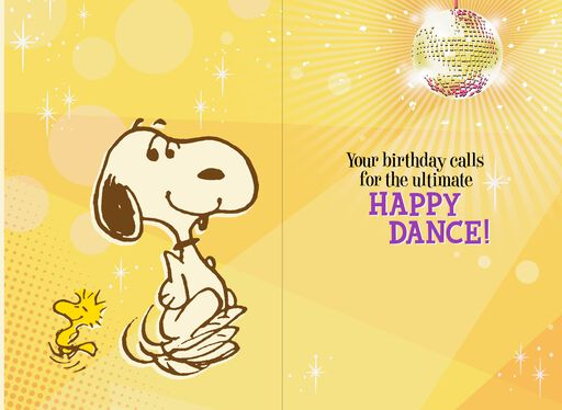 Peanuts® Snoopy Happy Dance Musical Birthday Card With Motion,