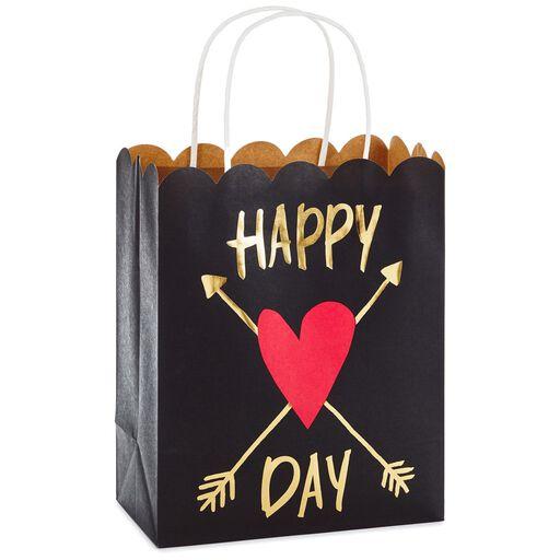 f6ae8d08dc41 Scalloped Happy Heart Day Medium Gift Bag