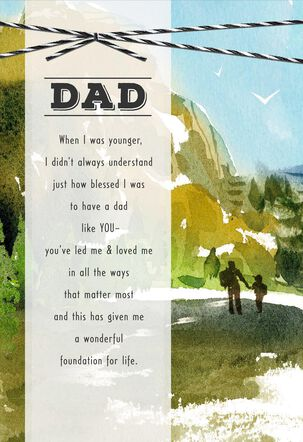 Mountain Hikers Religious Father's Day Card