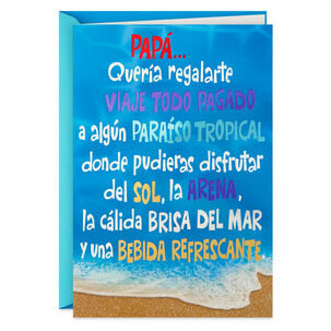 Tropical Vacation Spanish-Language Funny Father's Day Card