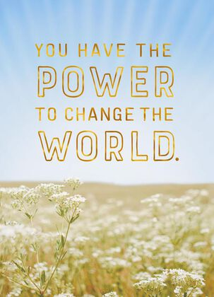 Change the World Graduation Card