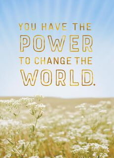 Change the World Graduation Card,