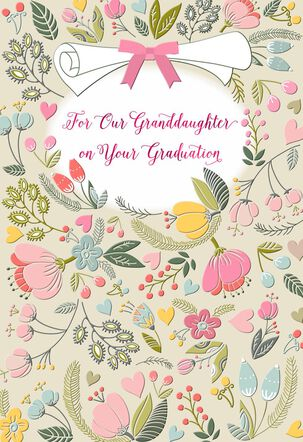 Celebrating You Religious Graduation Card for Granddaughter