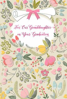 Celebrating You Religious Graduation Card for Granddaughter,