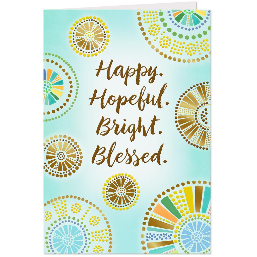 Happy And Blessed Religious Birthday Card