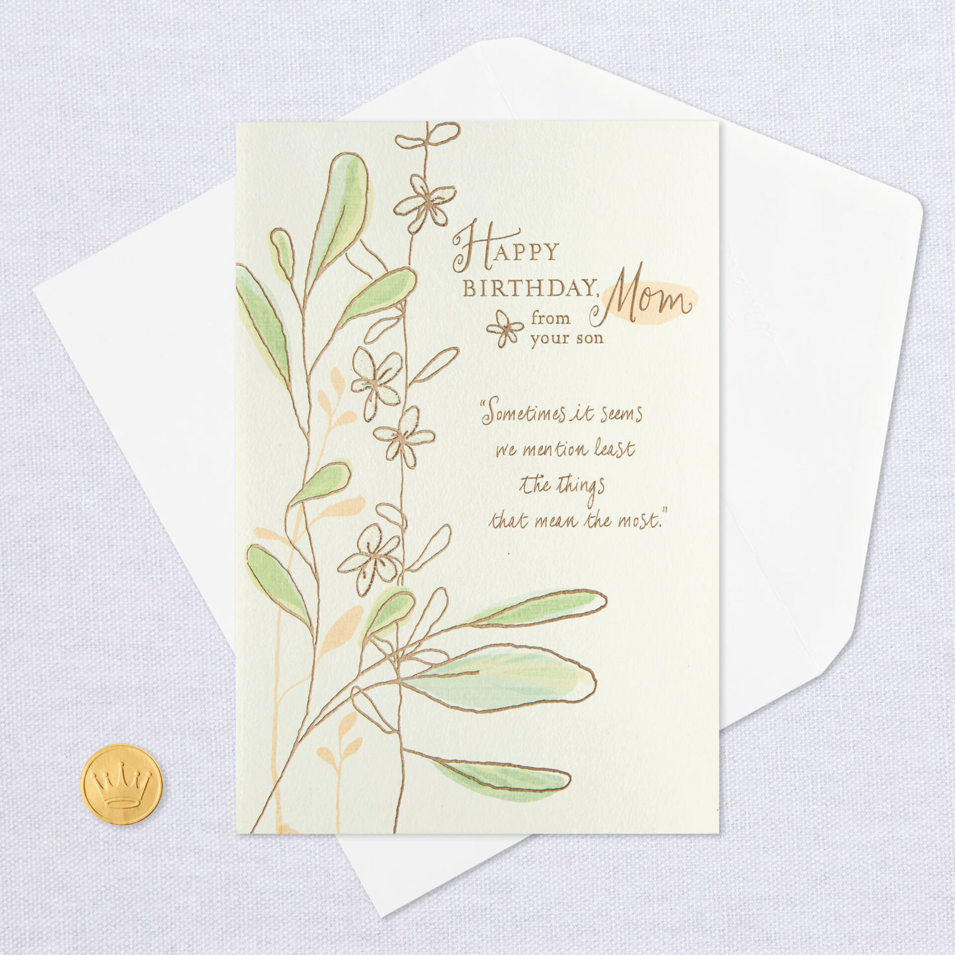Love And Gratitude Birthday Card For Mom From Son Greeting Cards Hallmark