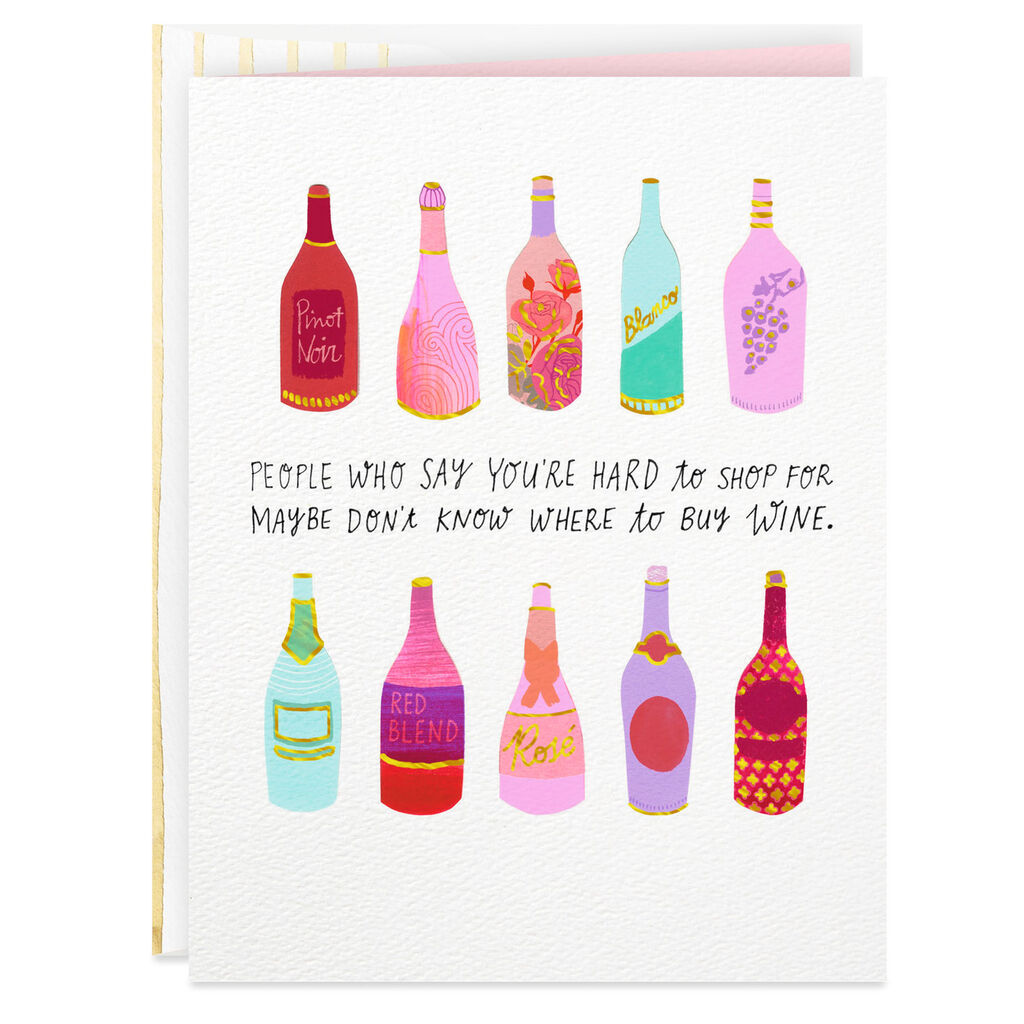 Bottles Of Wine Funny Birthday Card