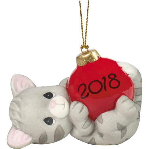 Precious Moments May Your Holidays Be Purr-fect 2018 Cat Ornament,