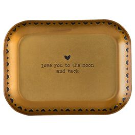 """Natural Life Copper """"Love You to the Moon and Back"""" Trinket Dish, , large"""