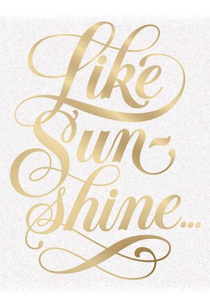 Jill Scott Like Sunshine Birthday Card
