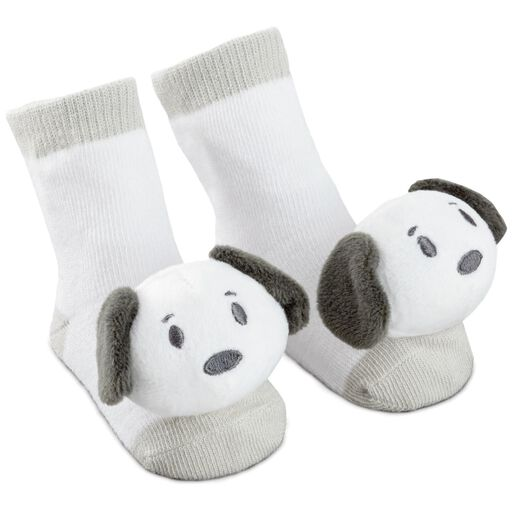 Gifts for baby gifts for new parents hallmark itty bittys peanuts snoopy baby rattle socks negle Images