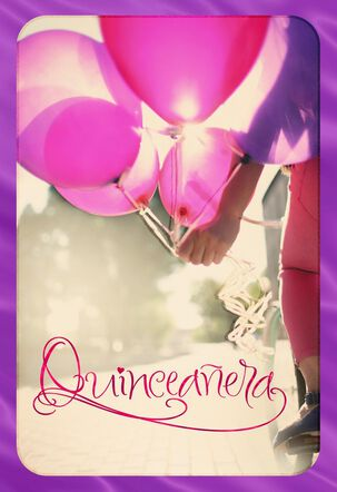 For a Smiling Quinceañera Card