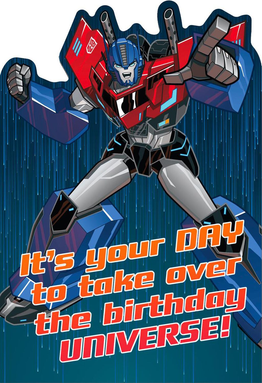 Transformers Optimus Prime Epic Birthday Card Greeting Cards