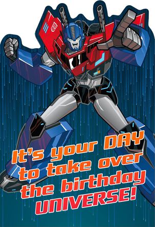TRANSFORMERS OPTIMUS PRIME Epic Birthday Card