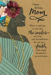 You're a Blessing Religious Birthday Card for Mom,