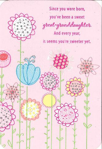 For a sweet great granddaughter birthday card greeting cards for a sweet great granddaughter birthday card bookmarktalkfo Images