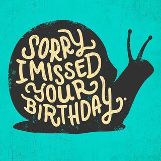 No Hustle Belated Musical Birthday Card,