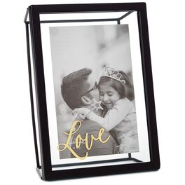 Love Glass and Metal Picture Frame, 4x6, , large