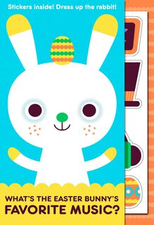 Hip Hop Bunny Joke Kid's Easter Card With Stickers,