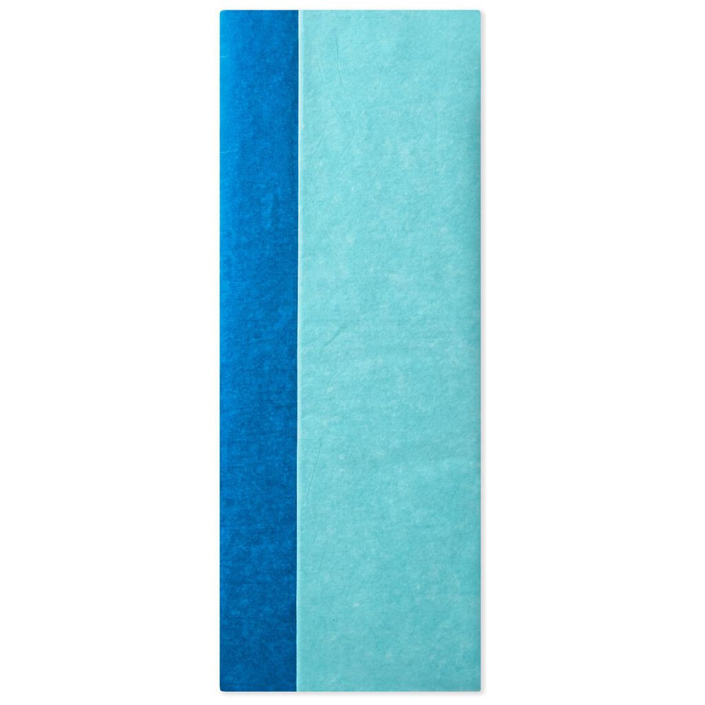 Aqua and Fiesta Blue 2-Pack Tissue Paper, 8 sheets
