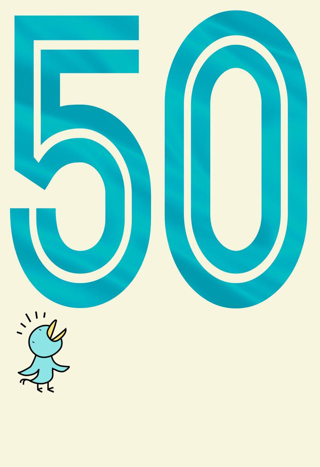 Big Ass Number Funny 50th Birthday Card