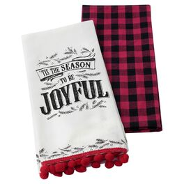Season to be Joyful Tea Towels, Set of 2, , large