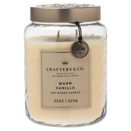 Crafters & Co. Warm Vanilla Candle, 22-oz, , large