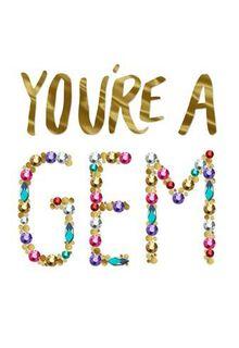 You're a Gem Birthday Card,