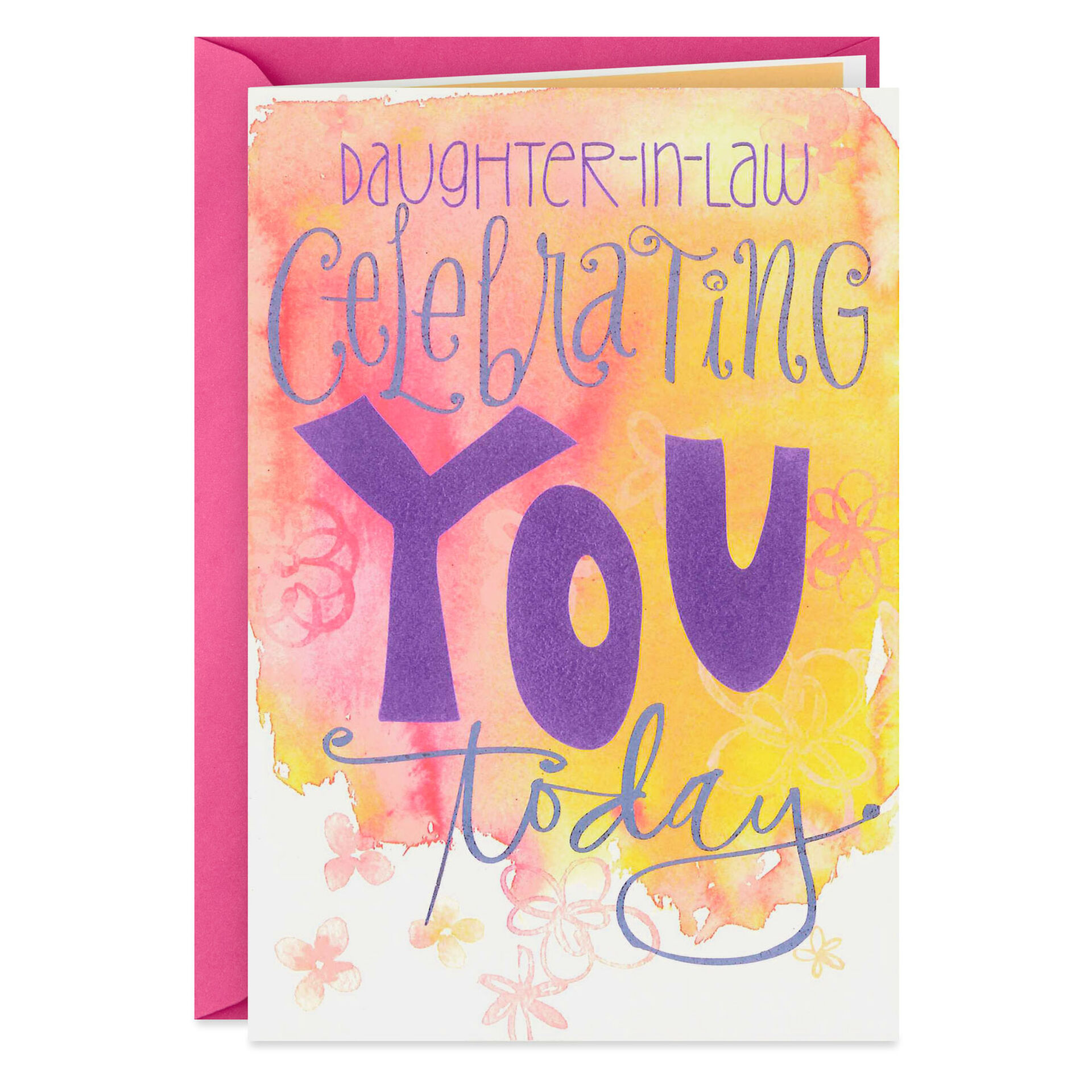 Celebrating You Today Birthday Card For Daughter In Law Greeting Cards Hallmark