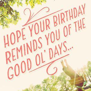 A Good Ol' Year Musical Birthday Card