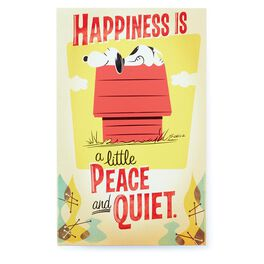 Snoopy Peace and Quiet Metal Sign, , large