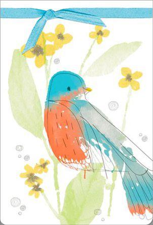 Little Robin Blank Card