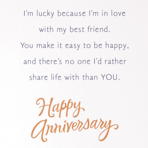 Happy One Year Anniversary Letter from www.hallmark.com