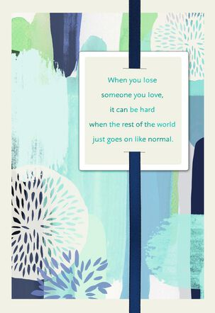 You Are Not Alone Sympathy Card