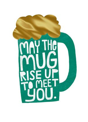 Green Beer Mug St. Patrick's Day Card