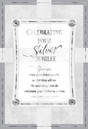 God's Special Calling Silver Jubilee Card