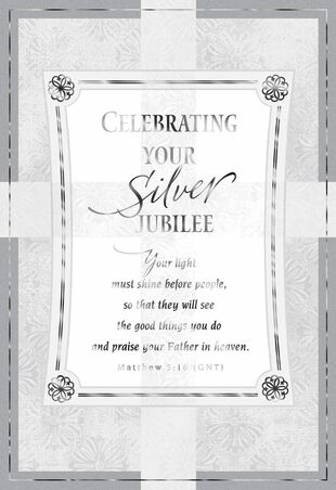 God S Special Calling Silver Jubilee Card Greeting Cards Hallmark