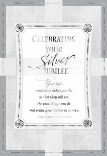 God's Special Calling Silver Jubilee Card,