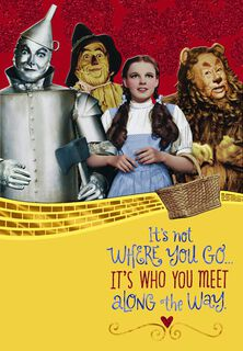 The Wizard Of Oz™ Yellow Brick Road™ Friend Birthday Card,