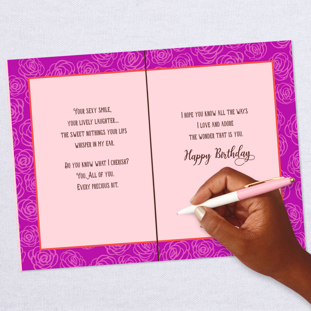 We Fit Together Perfectly Romantic Birthday Card
