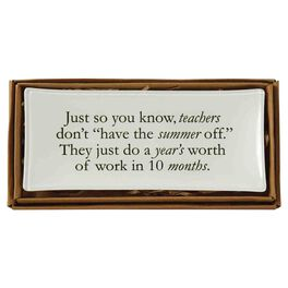Mud Pie® No Summer For Teacher Decorative Plate, , large
