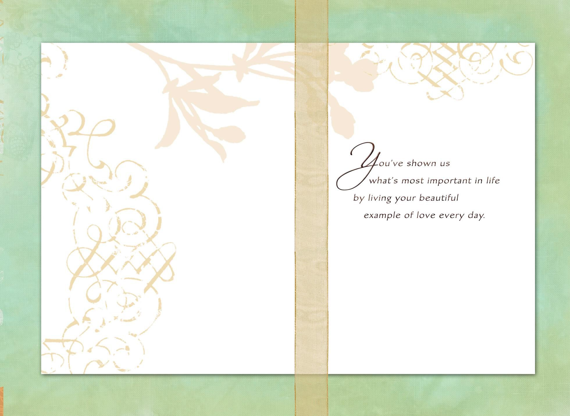 a beautiful example anniversary card for parents